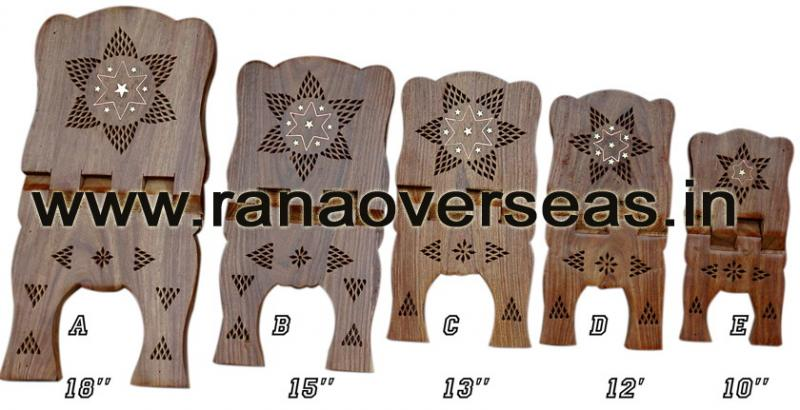 Wooden Carved Holy Book / Rahel Stand - 2