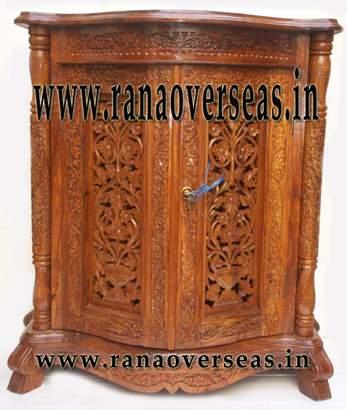 Wooden Carved Cabinet Cum Almirah