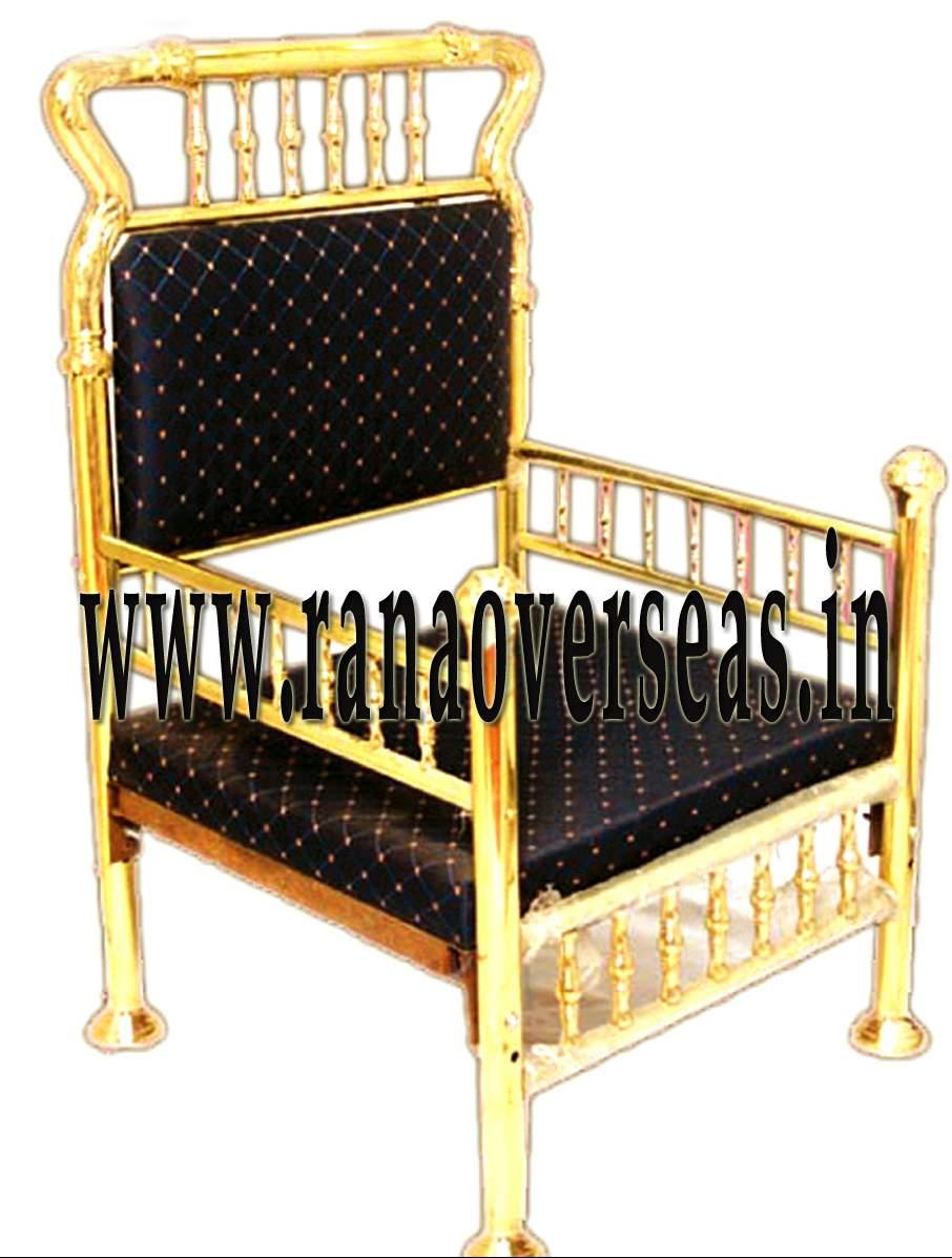 Brass Chair.