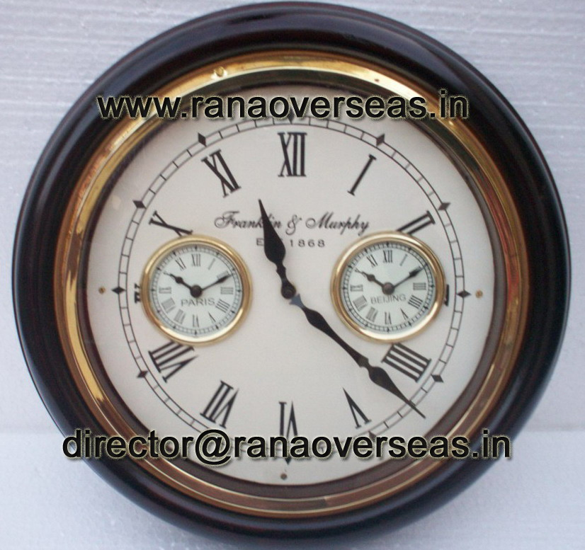 WORLD CLOCK - WITH 3 DIALS