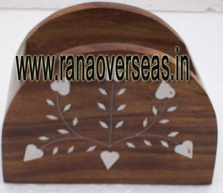 WOODEN TISSUE HOLDER - 4