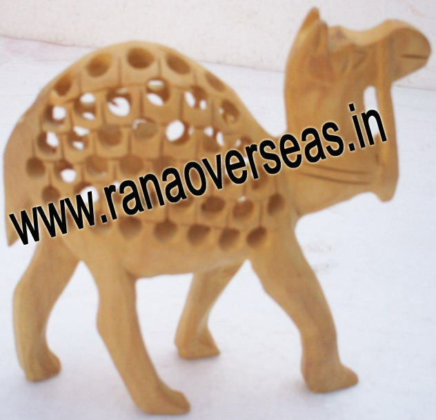 Wooden Carved Under Cut Camel