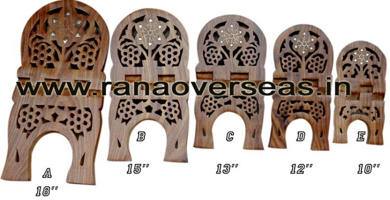 Wooden Carved Holy Book / Rahel Stand - 3