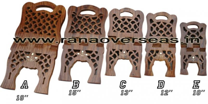 Wooden Carved Holy Book / Rahel Stand - 4