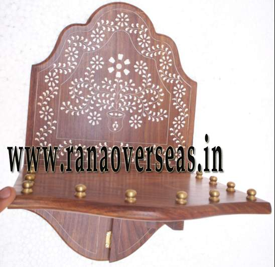 Wooden Carved Wall Rack - 2