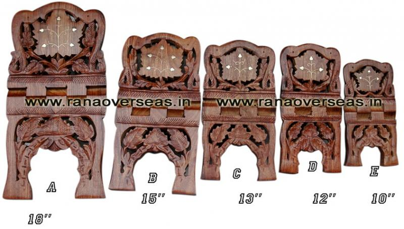 Wooden Carved Holy Book / Rahel Stand - 5