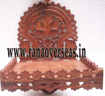 Wooden Carved Wall Rack - 3