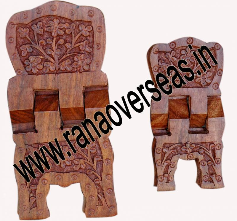 Wooden Carved Holy Book / Rahel Stand - 7
