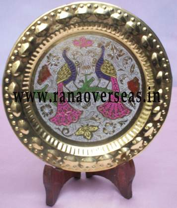 Brass Wall Hanging Plate - 2