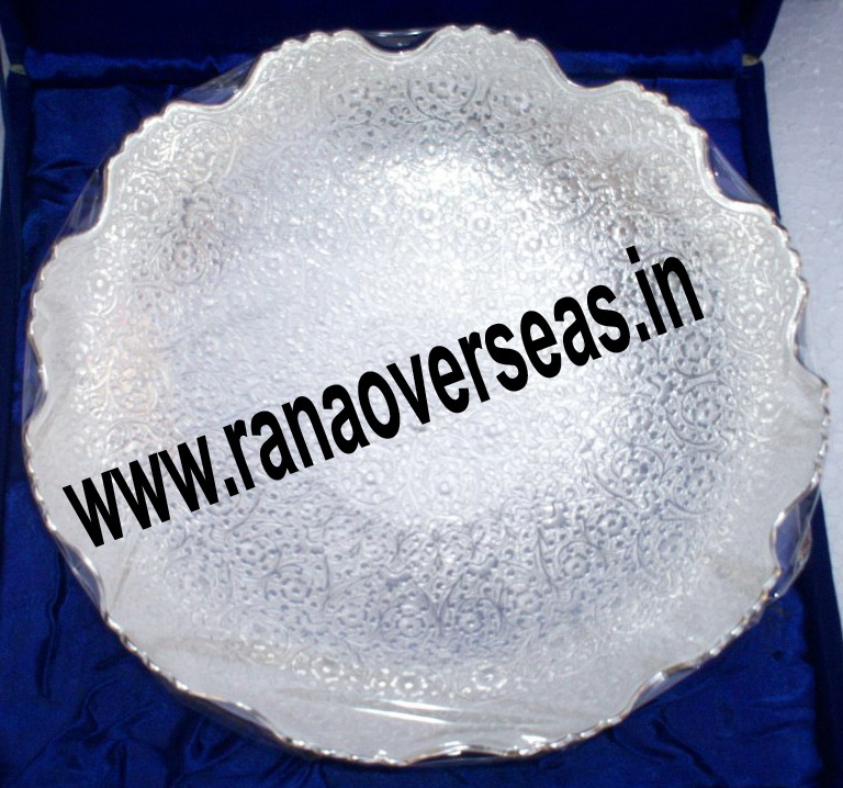 "Silver plated bowl in 10"" Inches, Serving bowl"