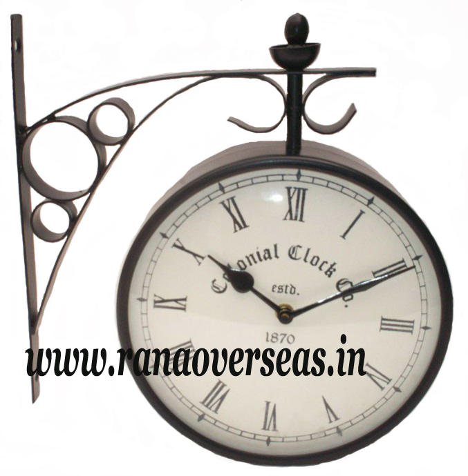 Double Sided Wall hanging Clock in 8 Inches Dial.
