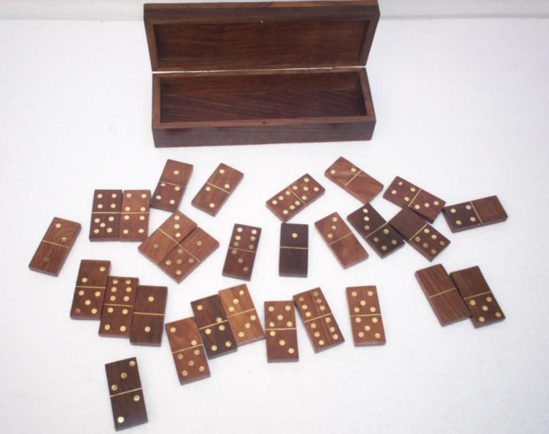 Wooden dominos.