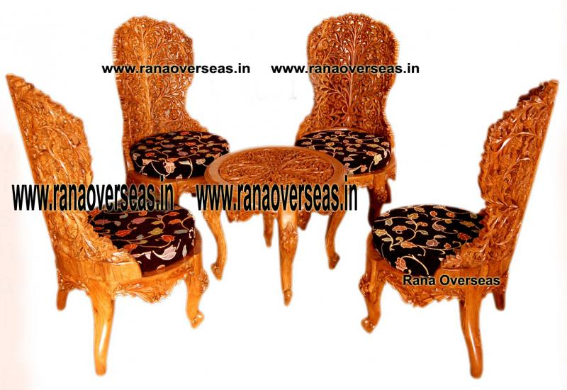 Wooden Chair Table Set 2.
