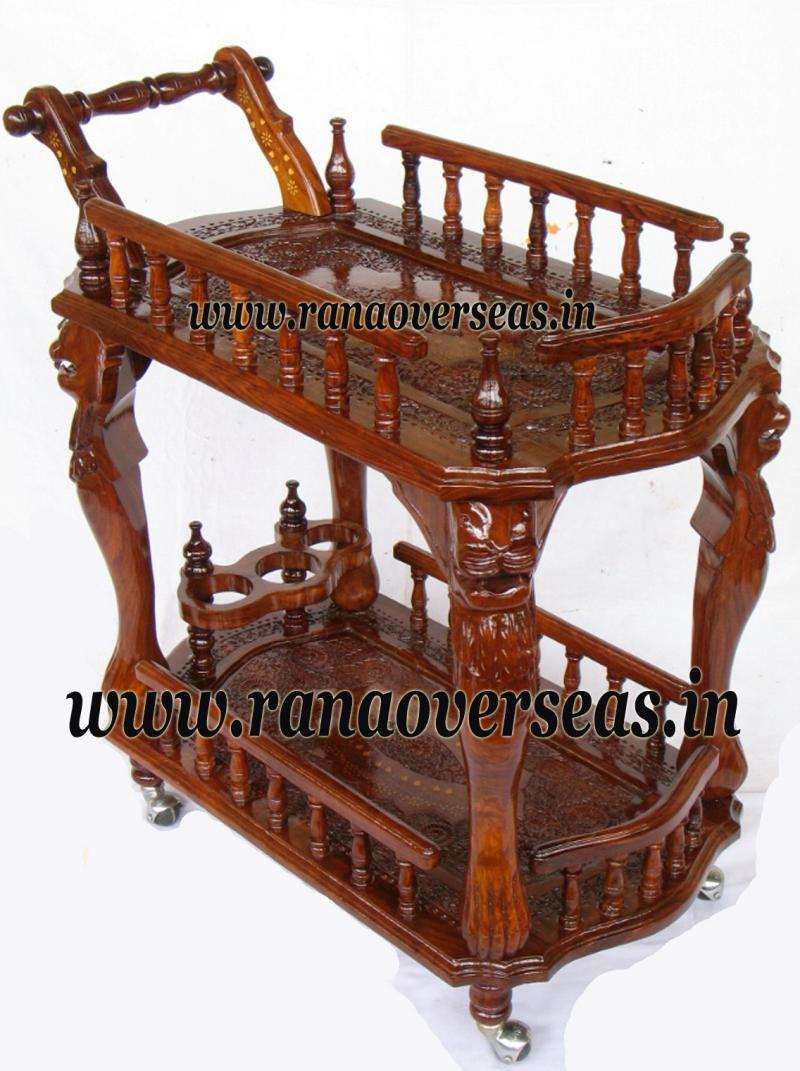 Wooden Serving Trolly 2
