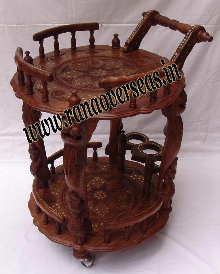 Wooden Serving Trolly 4