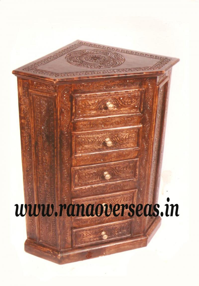 Wooden Drawer Chest - 3