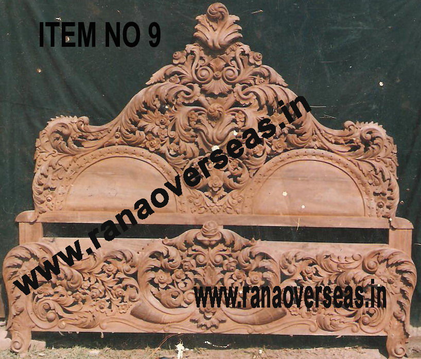 WOODEN CARVED BED 1