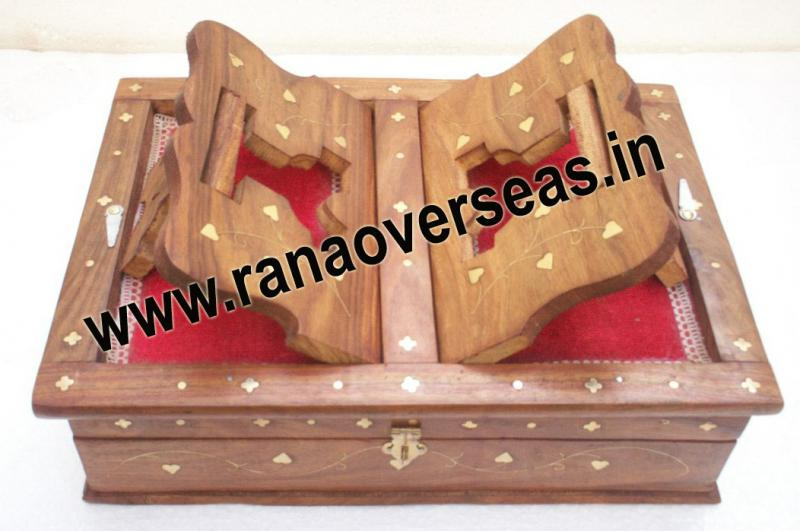 Manufacturer of Wooden Holy Book Stand With Box