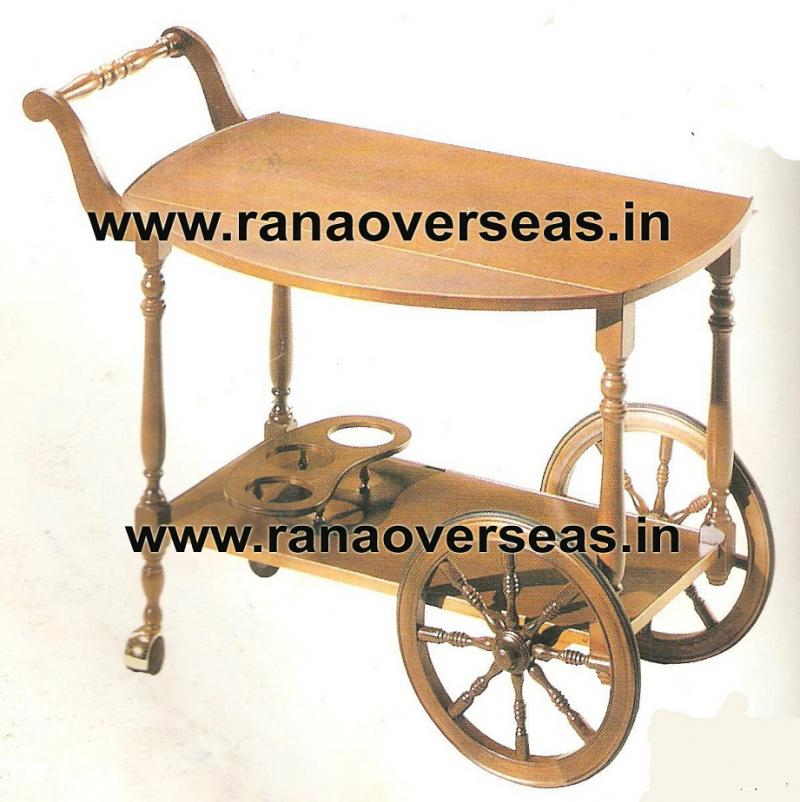 Wooden Serving trolly 1
