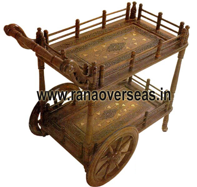 Wooden Serving trolly 5
